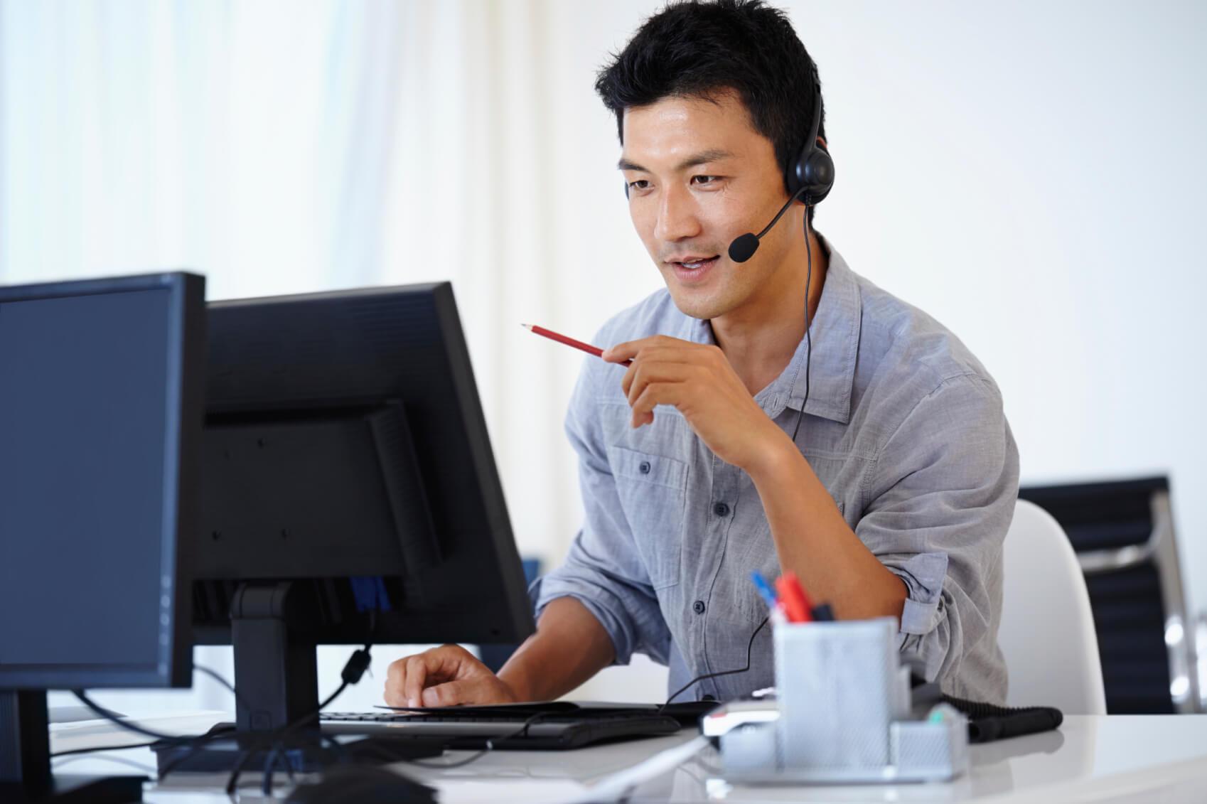 IT professional at help desk